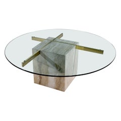 Artedi Glass and Marble Coffee Table