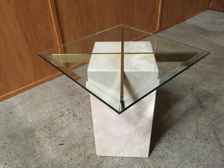 Artedi Travertine Tables a Pair For Sale 13