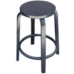 Artek  Counter Height Black Bar Stool by Alvar Aalto Modern Finland