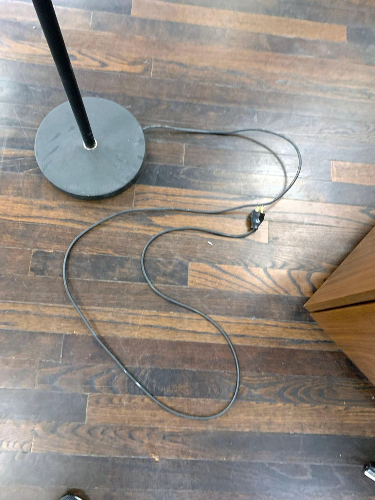 "Artek Chrome A805 ""Angel Wing"" Floor Lam by Alvar Aalto For Sale 7"