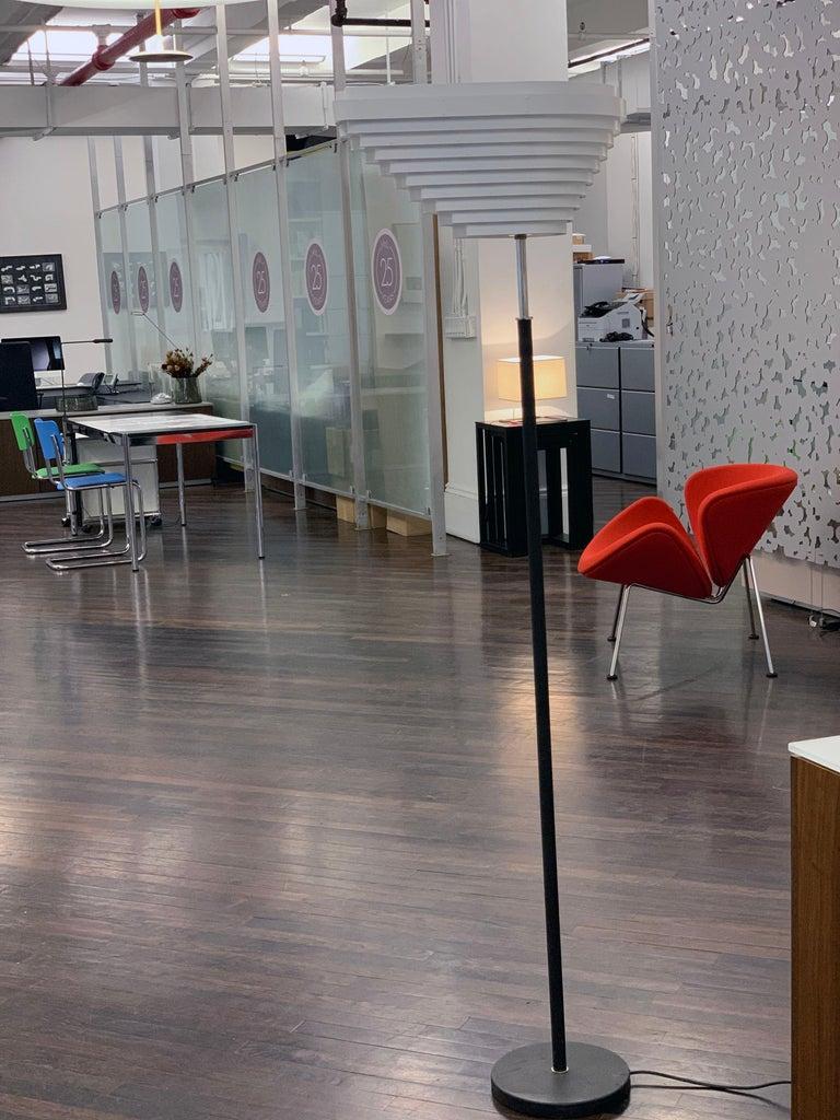 "Artek Chrome A805 ""Angel Wing"" Floor Lam by Alvar Aalto For Sale 6"