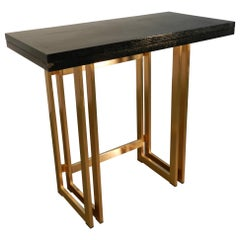 Artelano, Italian Midcentury Blanc Lacquer Extending Console Table, 1970s