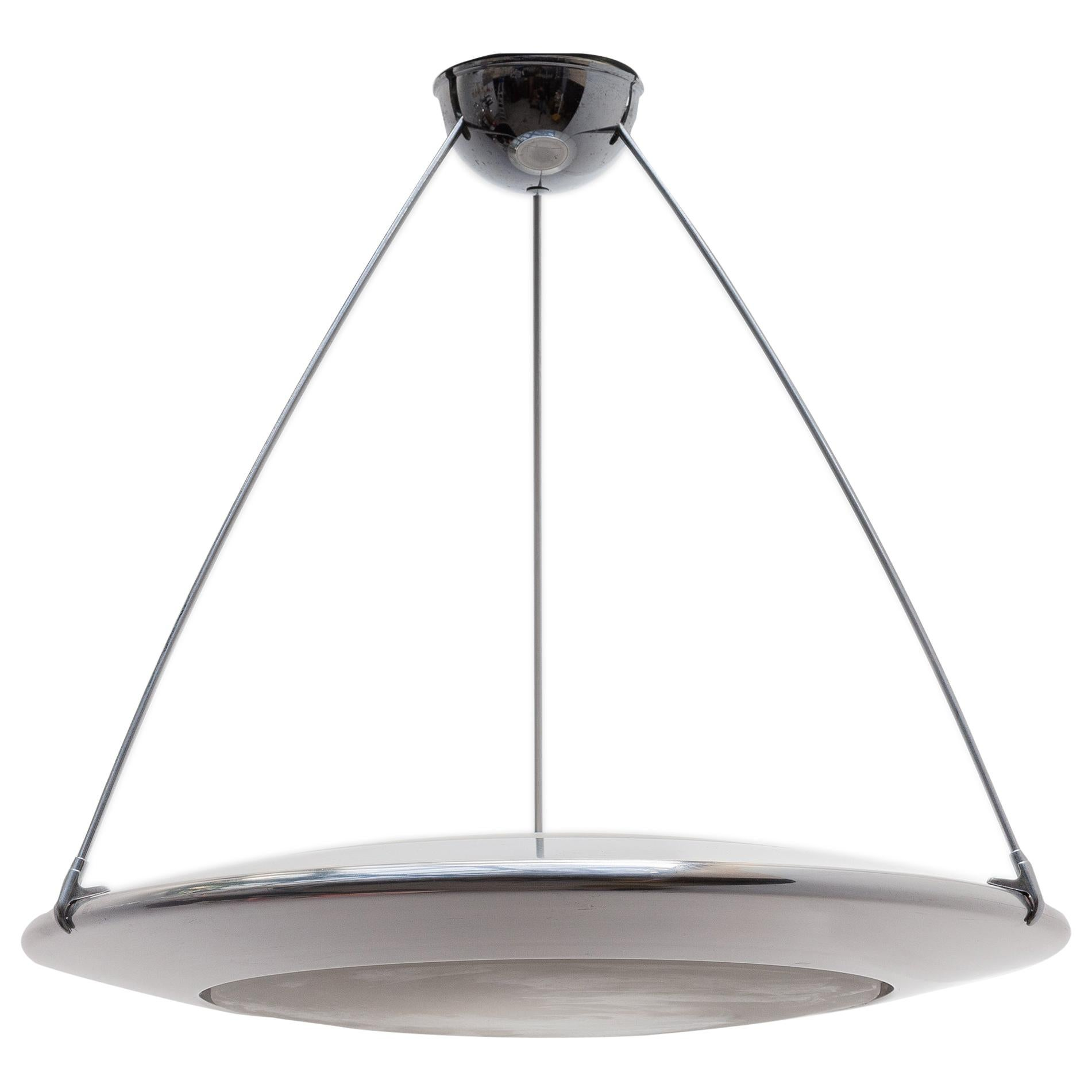 "Arteluce Atomic Space Chrome Disk Lamp Mira ""C"" Designed by Ezio Didone"