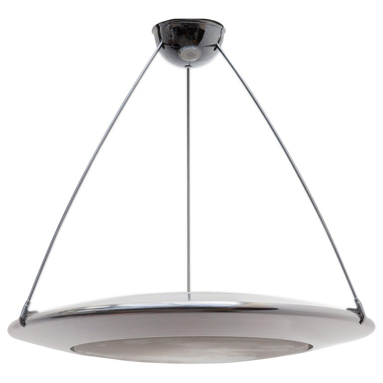"""Arteluce Atomic Space Chrome Disk Lamp Mira """"C"""" Designed by Ezio Didone For Sale"""