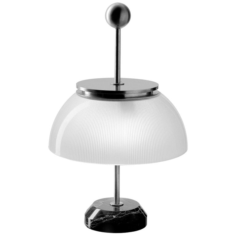 Artemide Alfa LED-T Table Lamp in White and Marble Base by Sergio Mazza For Sale