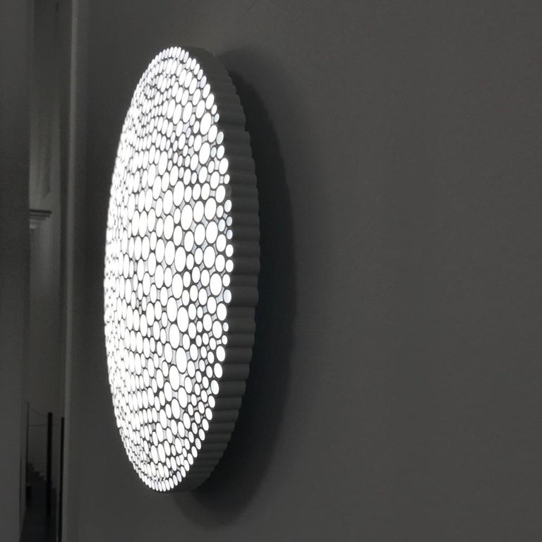 Artemide Calipso 2700K LED Wall and Ceiling Light in White In New Condition For Sale In Hicksville, NY
