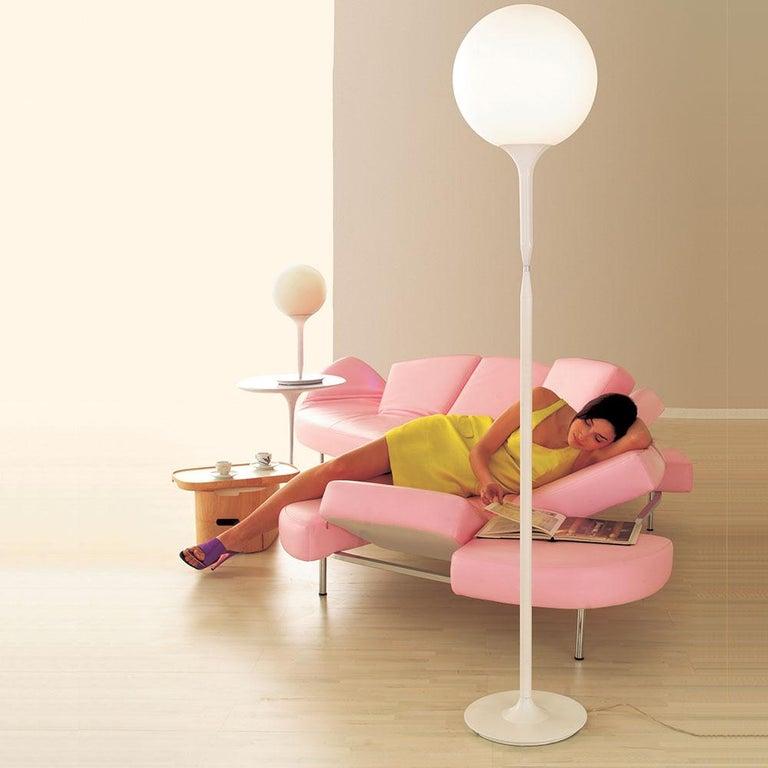 Italian Artemide Castore 42 Floor Lamp in White For Sale