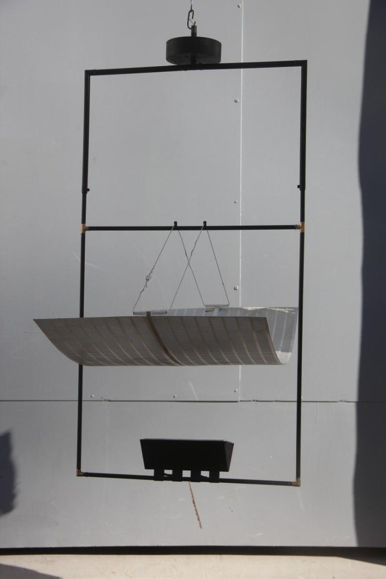 Mid-Century Modern Artemide Ceiling Lamp Zafiro Italian Sculptural Design, Mario Botta, 1980 For Sale