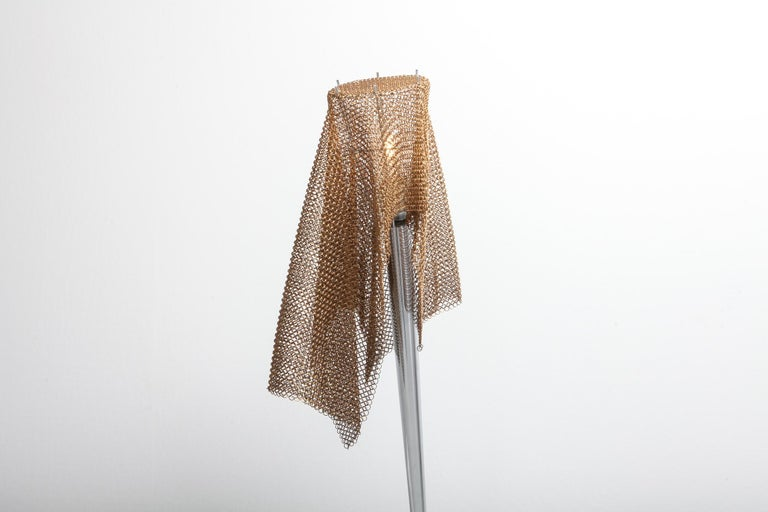 Late 20th Century Artemide Chain Mail Table Lamp