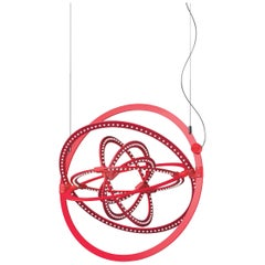 Artemide Copernico 500 Suspension Light in Red by Carlotta de Bevilacqua