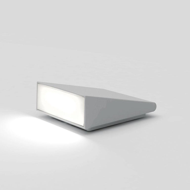 An outdoor product with multiple uses, Cuneo can be installed on the ground to provide side lighting along a driveway or garden path, or on a wall to create a wall washer effect.   The light may be directed upwards or downwards depending on