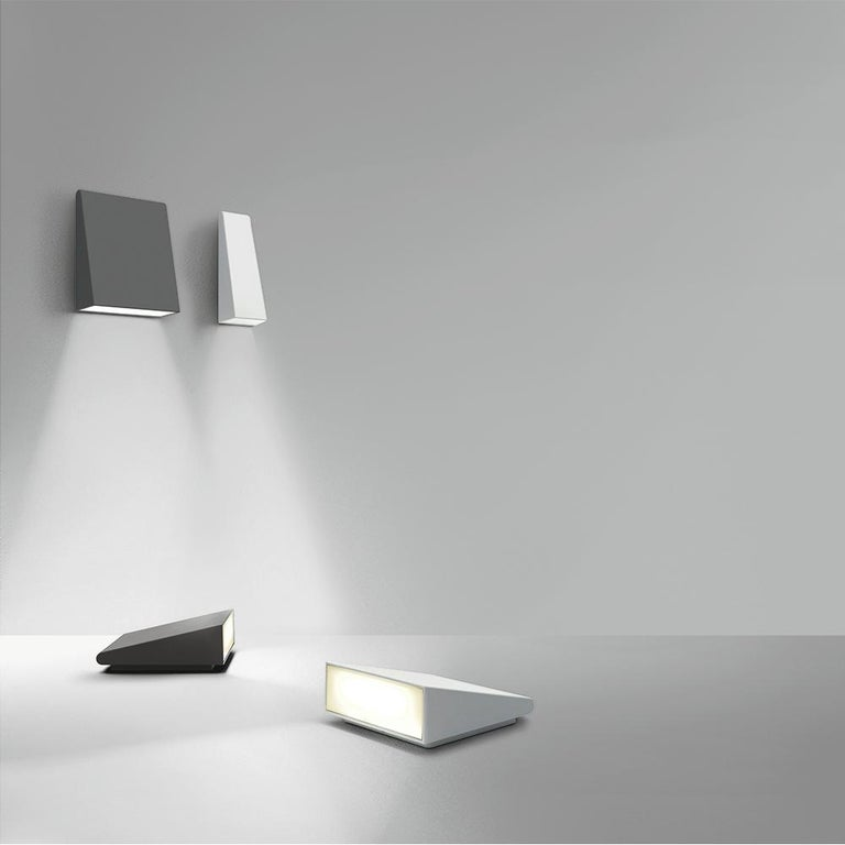 Modern Artemide Cuneo Wall and Floor Light in White by Klaus Begasse For Sale