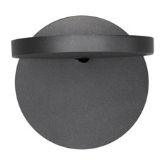 Artemide Demetra LED 27K Wall Spot Lamp in Anthracite Gray with Switch