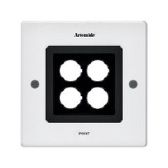 Artemide Ego 150 Square Downlight in Aluminium by Ernesto Gismondi