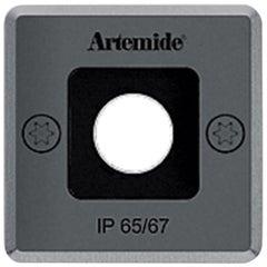 Artemide Ego 55 Square Downlight in Stainless Steel by Ernesto Gismondi