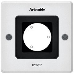 Artemide Ego 90 Square Downlight in Aluminum by Ernesto Gismondi