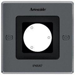 Artemide Ego 90 Square Downlight in Stainless Steel by Ernesto Gismondi