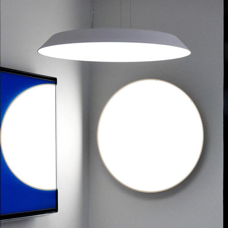 Modern Artemide Febe 2700K Suspension Light in Grey For Sale