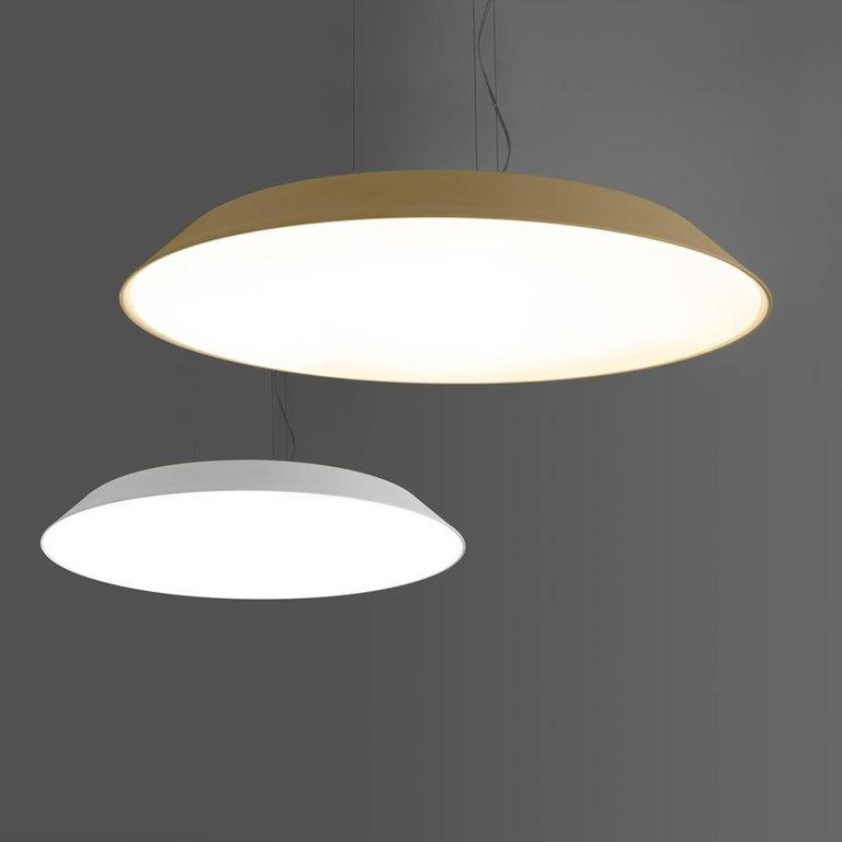 Italian Artemide Febe 2700K Suspension Light in Grey For Sale