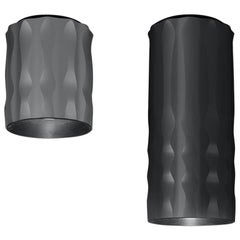 Artemide Fiamma 30 LED 2-Wire Ceiling Light in Anodized Black by Jean-Michel Wil