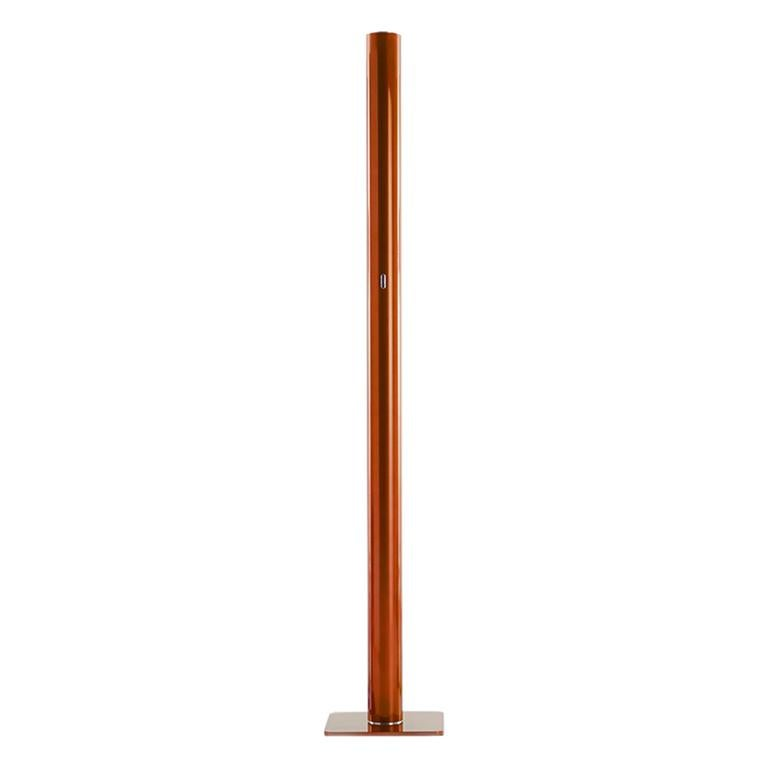 Artemide Ilio Led Floor Lamp in Orange by Ernesto Gismondi
