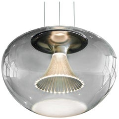 Artemide Ipno LED Two-Wire Pendant in Glass by Michele De Lucchi