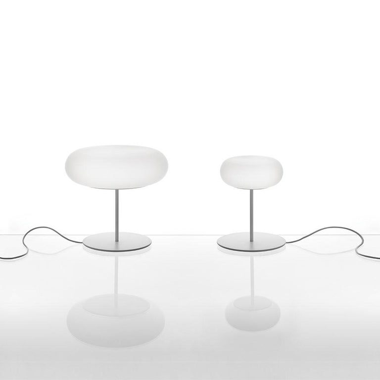 Italian Artemide Itka Table Light in White by Naoto Fukasawa For Sale