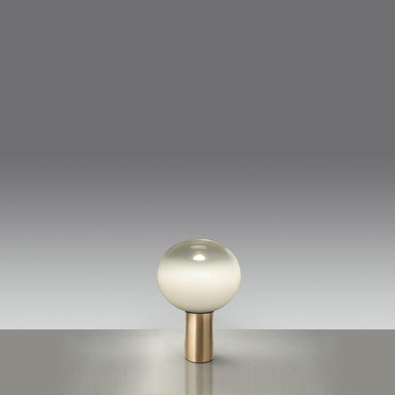 Modern Artemide Laguna 37 E16 Table Lamp in Gold by Matteo Thun For Sale