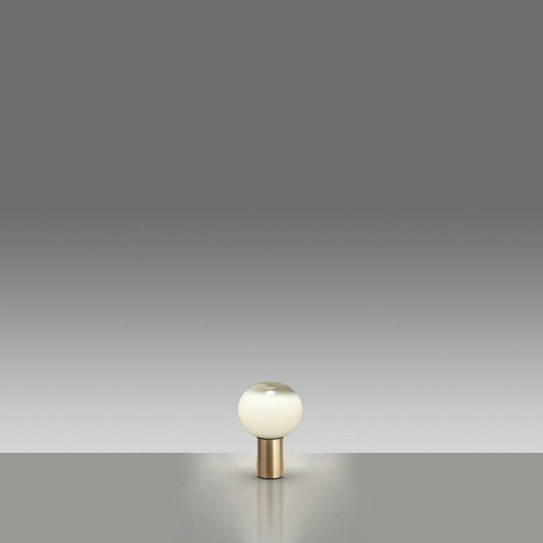 Italian Artemide Laguna 37 E16 Table Lamp in Gold by Matteo Thun For Sale