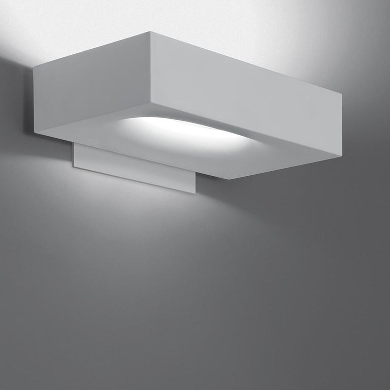 Modern Artemide Melete Dimmable Led Wall Light in White by Pio & Tito Toso For Sale