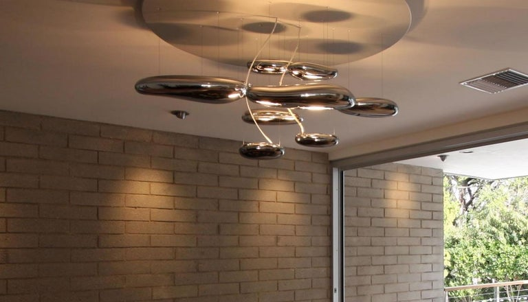 Artemide Mercury Chandelier Ceiling Flush Light Fixture by Ross Lovegrove In Good Condition For Sale In Brooklyn, NY