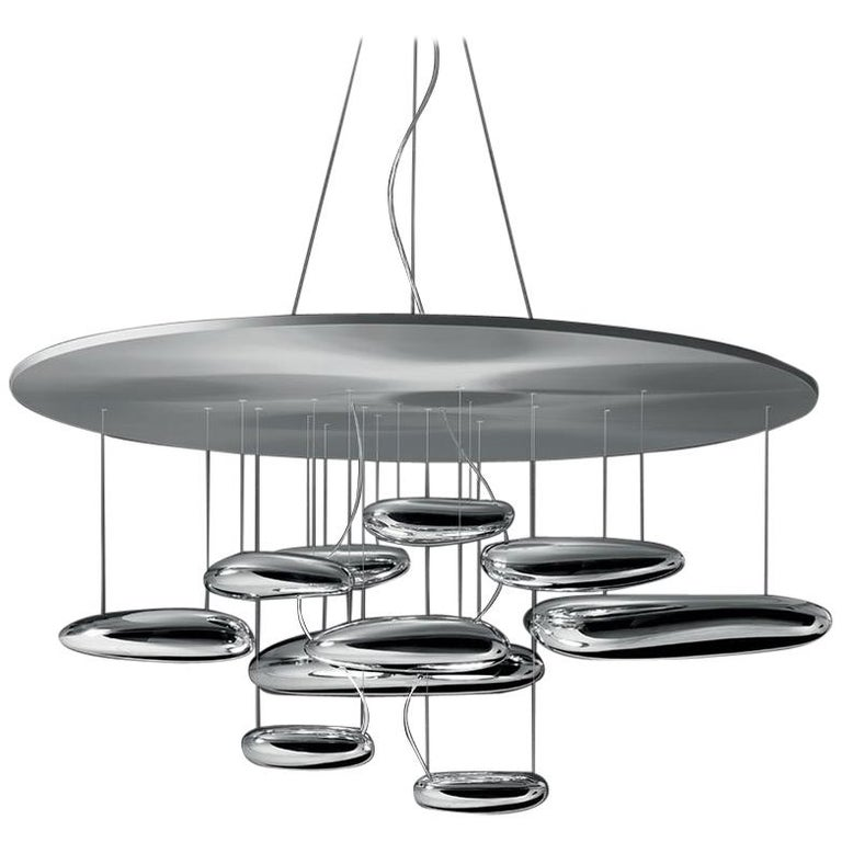 Artemide Mercury LED Suspension Light with Dimmer For Sale
