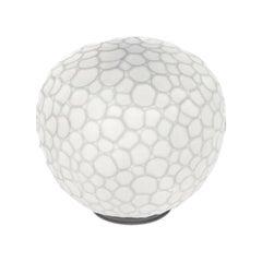 Artemide Meteorite 15 Halogen Table Lamp in White by Pio & Tito Toso