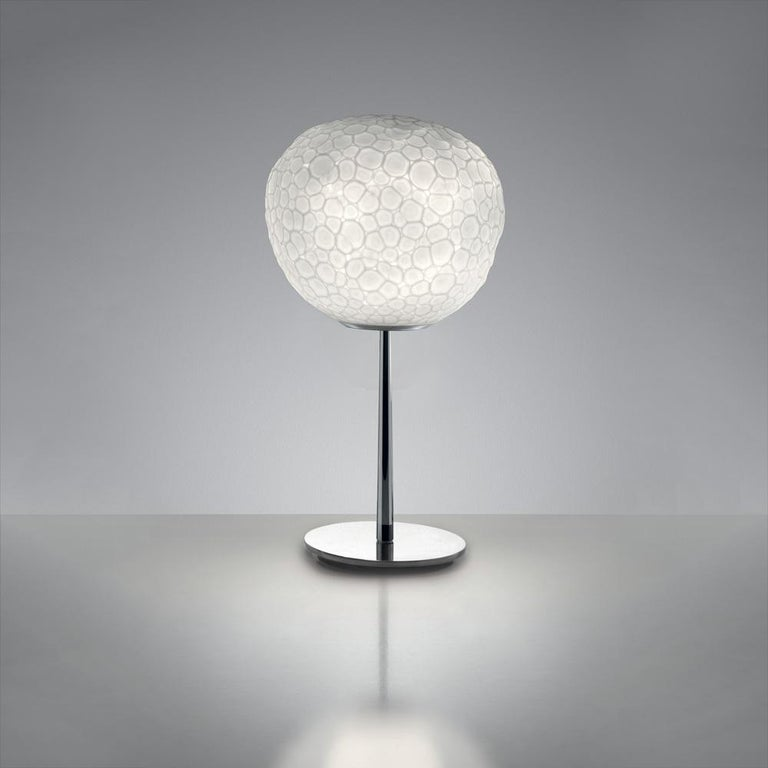 Modern Artemide Meteorite 15 Halogen Table Lamp with Stem in Chrome by Pio & Tito Toso For Sale