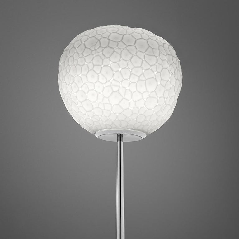 Modern Artemide Meteorite 35 Dimmable E26 Floor Lamp in Chrome by Pio & Tito Toso For Sale