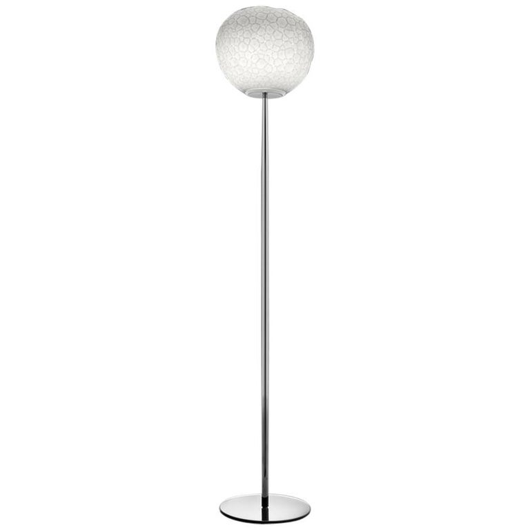 Artemide Meteorite 35 Dimmable E26 Floor Lamp in Chrome by Pio & Tito Toso For Sale