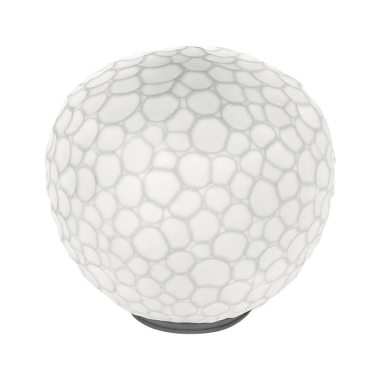 Artemide Meteorite 35 Dimmable E26 Table Lamp in White by Pio & Tito Toso For Sale