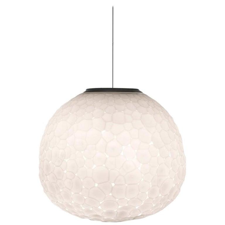 Artemide Meteorite 48 E26 Pendant Light in White by Pio & Tito Toso For Sale