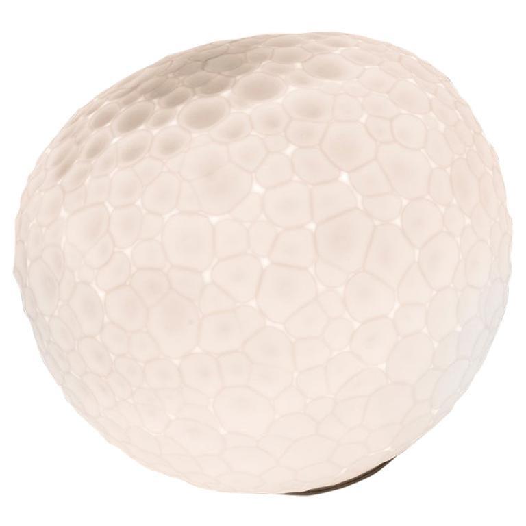 Artemide Meteorite 48 E26 Table Lamp in White by Pio & Tito Toso For Sale
