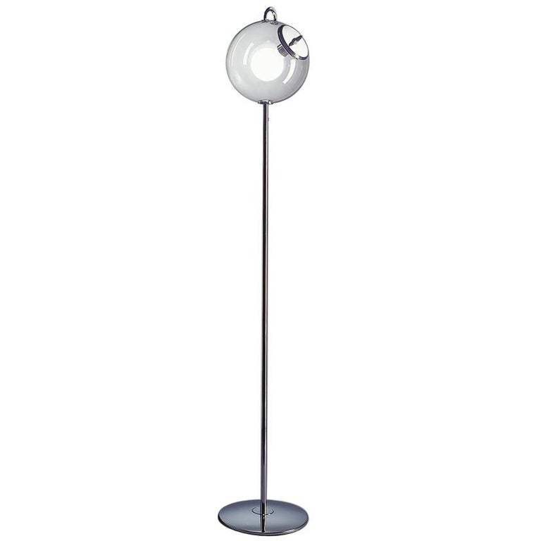 Artemide Miconos E26 Floor Lamp in Chrome by Ernesto Gismondi For Sale
