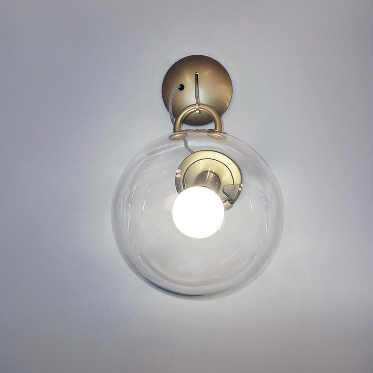 Modern Artemide Miconos Wall Light in Gold For Sale