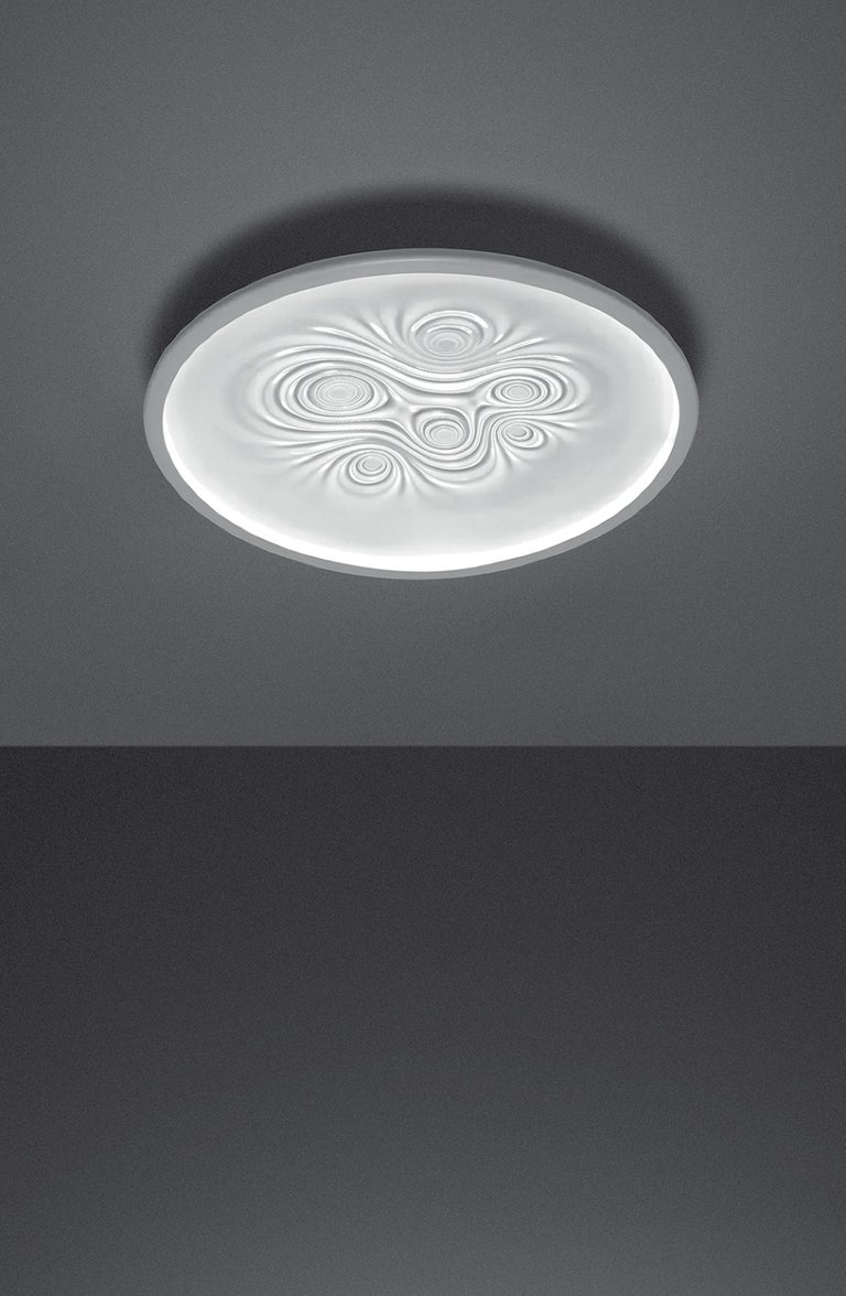 Modern Artemide Nebula LED Wall/Ceiling Light in White by Ross Lovegrove For Sale