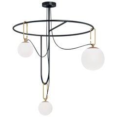Artemide NH S4 Cir Suspension Lamp in Gold by Neri & Hu