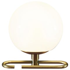 Artemide NH1217 LED Table Lamp in White with Brass Ring by Neri&HU