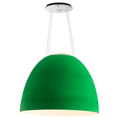 Artemide NUR 1618 Acoustic LED Suspension Light in Green by Ernesto Gismondi