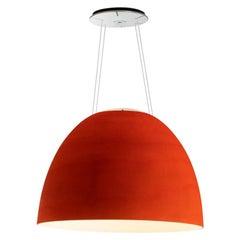 Artemide NUR 1618 Acoustic LED Suspension Light in Red by Ernesto Gismondi