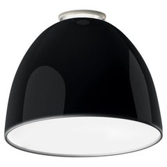 Artemide Nur Led Dimmable Ceiling Light in Glossy Black by Ernesto Gismondi