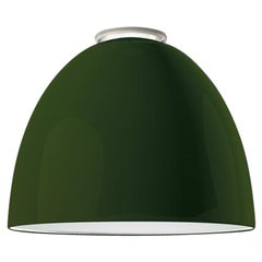 Artemide Nur Led Dimmable Ceiling Light in Glossy Green by Ernesto Gismondi
