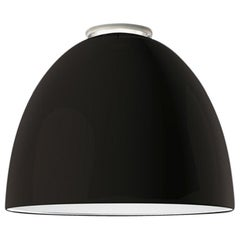 Artemide Nur Led Dimmable Ceiling Light in Glossy Grey by Ernesto Gismondi