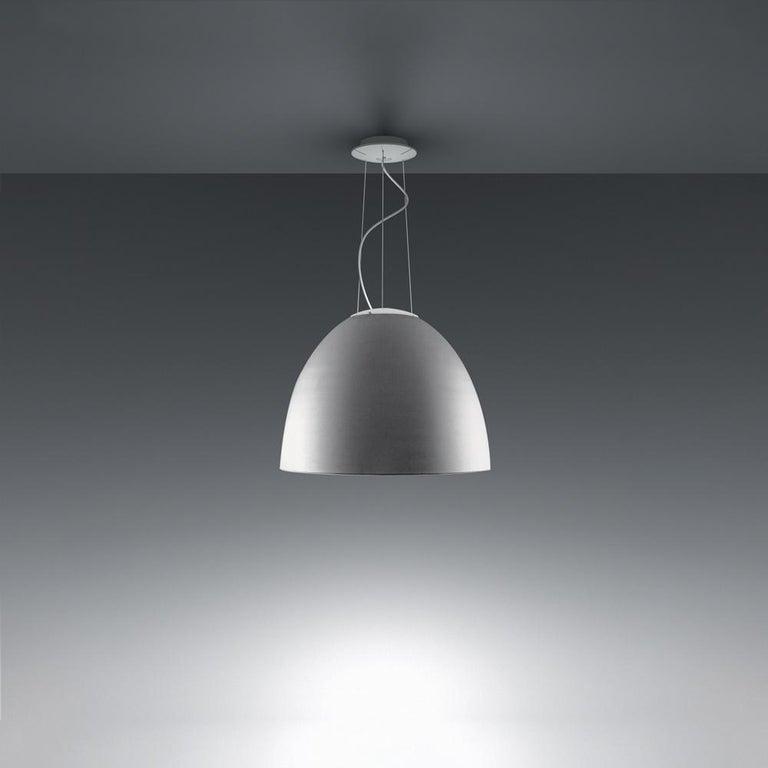 Modern Artemide Nur LED Dimmable Pendant Light in Aluminum by Ernesto Gismondi For Sale